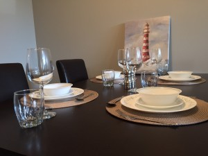 Crescent View Dinning Room Table Close